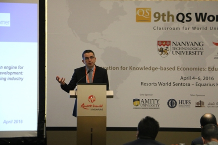 Participación del Dr. Serrato en el 2016 QS World Class en Singapur