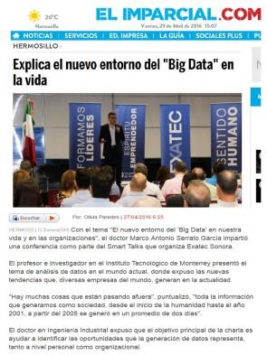 """Explica el nuevo entorno del """"Big Data"""" en la vida"""
