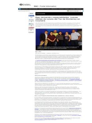 Bajo demanda y especialidades nuevas ofertas de cursos del Tec de Monterrey en Coursera_SNC