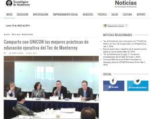 Comparte con UNICON las mejores prácticas de educación ejecutiva del Tec de Monterrey_SNC