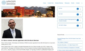 Dr. Marco Antonio Serrato appointed UNICON Board Member_UNICON site