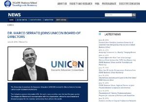 Dr. Marco Serrato Joins UNICON Board of Directors_EGADE_English