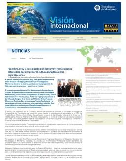 FranklinCovey y Tecnológico de Monterrey, firman alianza estratégica para impulsar la cultura ganadora en las organizaciones