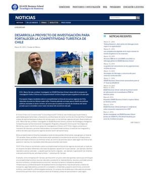 INVESTIGACIÓN PARA FORTALECER LA COMPETITIVIDAD TURÍSTICA DE CHILE_Entrevista EGADE BS
