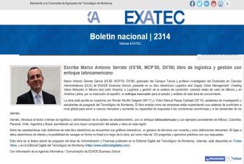 MASG vlog_Boletín EXATEC_Escribe libro de logística