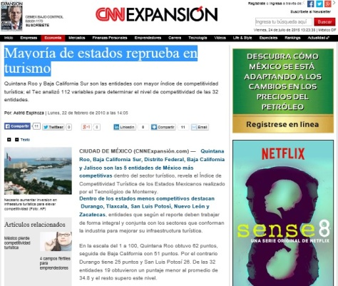 MASG vlog_CNN Expansión_Mayoría de los estados reprueba en Turismo