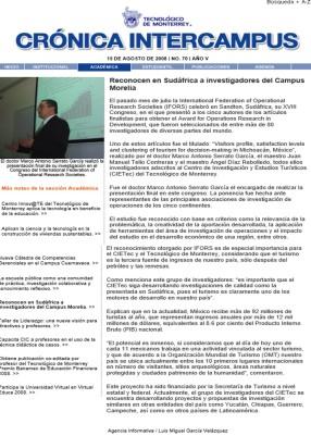 MASG vlog_Crónica Intercampus_Reconocen en Sudáfrica a Investigadores