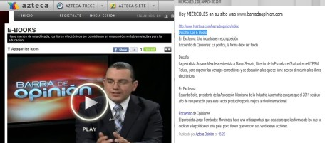 MASG vlog_Entrevista Barra de Opinion, TV Azteca_Ebooks
