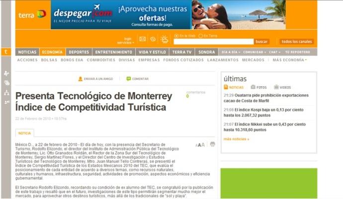 MASG vlog_Terra_Presenta Tecnológico Indice Competitividad Turística